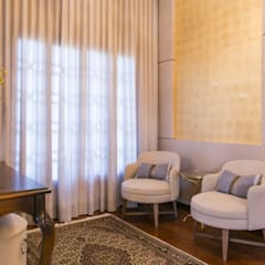 Residencia Atemporal e Luxuosa Corredores, halls e escadas ecléticos por Élcio Bianchini Projetos Eclético