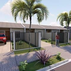 Casas Geminadas por Danilo Rodrigues Arquitetura Moderno