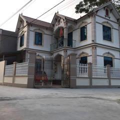 아시아스타일 벽지 & 바닥 by Hàng rào ly tâm Bilico 한옥 콘크리트