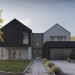 Modern counttry house / Nowoczesny dom za miastem od Kola Studio Architectural Visualisation Nowoczesny