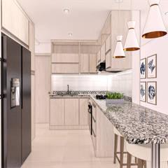 Diseño interior y mobiliario. Apto 305 de DIKTURE Arquitectura + Diseño Interior Moderno Madera Acabado en madera