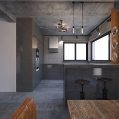 Projekt domu w stylu loft od OKFORM Projektowanie wnętrz Industrialny Beton