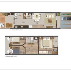 Projeto de casas geminadas por Jr Arquitetura + interiores Moderno
