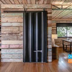 البلد، لقب، الرواق، رواق، &، درج من Casa Container Marilia - Arquitetura em Container بلدي