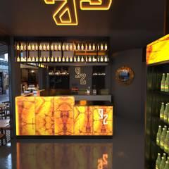 Industrial style bars & clubs by Furkan Gedik Mimarlık Industrial Marble