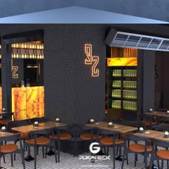 Industrial style bars & clubs by Furkan Gedik Mimarlık Industrial Silver/Gold
