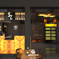 Industrial style bars & clubs by Furkan Gedik Mimarlık Industrial Aluminium/Zinc