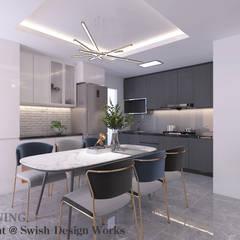 4-room BTO flat Modern kitchen by Swish Design Works Modern Plywood