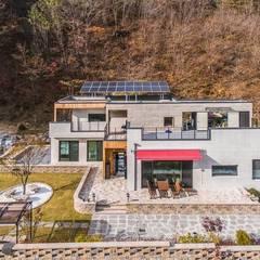자연과 주택외관이 보여주는 하모니 by 한글주택(주) 모던 콘크리트