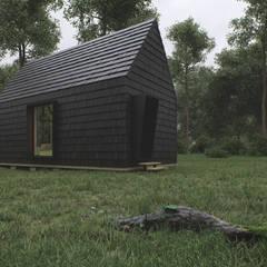 Cabin House Studio AW Skandynawskie domy od Architekt Łukasz Bulga Studio A&W Kraków | Projekty domów nowoczesnych Skandynawski