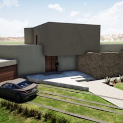by Casas del Girasol- arquitecto Viña del mar Valparaiso Santiago Mediterranean مضبوط کیا گیا کنکریٹ
