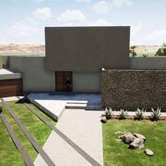 Śródziemnomorska piwnica win od Casas del Girasol- arquitecto Viña del mar Valparaiso Santiago Śródziemnomorski Wzmocniony beton