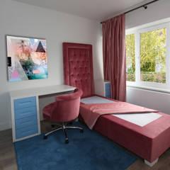Slaapkamer met badkamer en dressing in suite van Marcotte Style Rustiek & Brocante