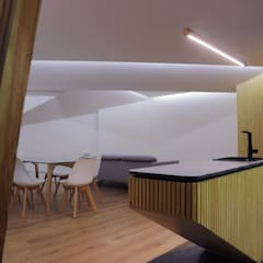 Remodelação de Apartamento T3 - Flow of Contrast por Office of Feeling Architecture, Lda Moderno