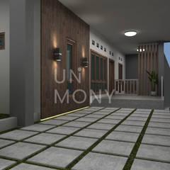 Exterior Rumah Bapak Bona Balkon, Beranda & Teras Minimalis Oleh unimony.id Minimalis