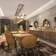 Modern House, Lusaka, Zimbabwe Modern dining room by Spegash Interiors Modern