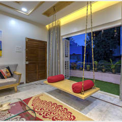 2 BHK spacious apartment Asian style garden by The D'zine Studio Asian