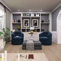 Aynur Yar Villa - İzmir Modern Oturma Odası VERO CONCEPT MİMARLIK Modern