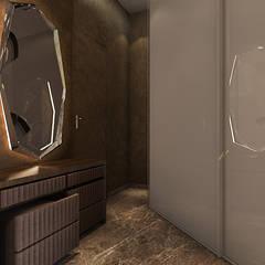 walk in closet Ashleys Minimalist corridor, hallway & stairs