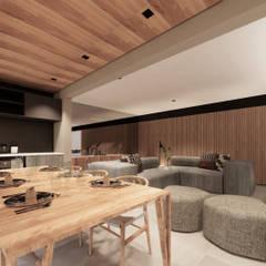 من Saulo Magno Arquiteto تبسيطي خشب Wood effect