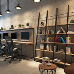 Industrial style office buildings by Ask Design and Build Industrial