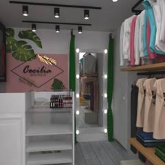 Scandinavische kantoor- & winkelruimten van Naromi Design Scandinavisch Hout Hout