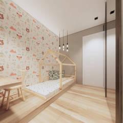 Apartamento Clean com elementos em Madeira por Saulo Magno Arquiteto Minimalista Madeira Efeito de madeira