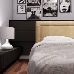 Render di ambienti e progetti di home staging virtuale di CLARE STUDIO Moderno