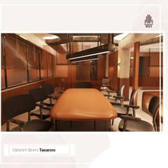Rustykalne domowe biuro i gabinet od KUT İÇ MİMARLIK Rustykalny Drewno O efekcie drewna