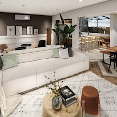 Studio Ideação Ruang Keluarga Gaya Skandinavia