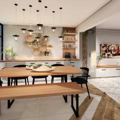 Studio Ideação Ruang Makan Gaya Skandinavia