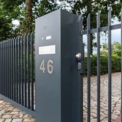 Nordzaun Taman Minimalis Aluminium/Seng Grey