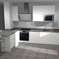 dideño cocina 3d Refovert S.L. CocinaArmarios y estanterías Aglomerado Blanco