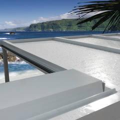 unica living design Mediterranean style conservatory Aluminium/Zinc
