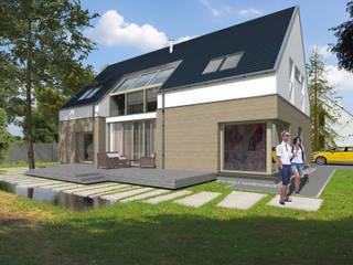 Dom _Passive_South Nowoczesne domy od ABC Pracownia Projektowa Bożena Nosiła Nowoczesny