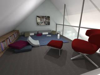 Triplex nantais : Salle multimédia de style  par Benoit Bayart