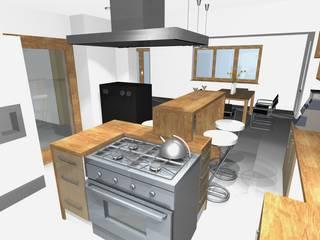 haus k . oberbayern: moderne Küche von innenarchitektur s. kaiser