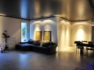 Salon industriel par Fugenlose mineralische Böden und Wände Industriel
