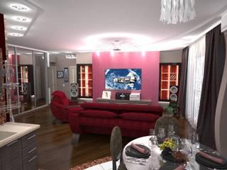Modern Living Room by Гурьянова Наталья Modern