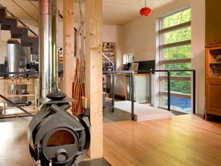 Architekturbüro Riek Rustik Koridor, Hol & Merdivenler