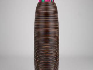 Bodenvase - 90cm hoch - Mangoholz:   von Leewadee GmbH