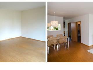 Leerstehende Immobilie - Doppelhaushälfte: modern  von Homestaging,Modern