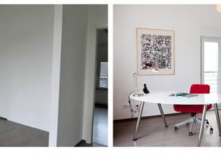 Leerstehende Immobilie – Reihenendhaus: modern  von Homestaging,Modern