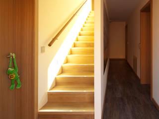 Modern corridor, hallway & stairs by Architekt Armin Hägele Modern
