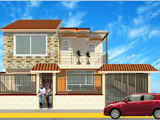 Fachada principal casa azahares: Casas de estilo  por DD Arquitectos