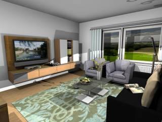 MIt dem Computer geplant- in der Werkstatt gebaut und realisiert: moderne Wohnzimmer von Einrichtungshaus & Innenarchitektur Jablonski GmbH