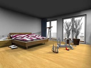 MIt dem Computer geplant- in der Werkstatt gebaut und realisiert: skandinavische Schlafzimmer von Einrichtungshaus & Innenarchitektur Jablonski GmbH