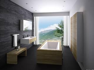 Salle de bain par Die Tischlerei Hauschildt