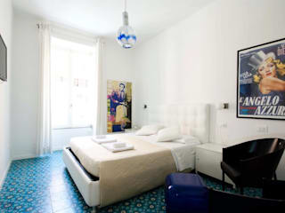 Aranżacje płytek cementowych w pokojach: styl , w kategorii Sypialnia zaprojektowany przez Kolory Maroka