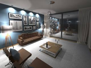 visualisierung wohnbereich:  Wohnzimmer von innenarchitektur s. kaiser